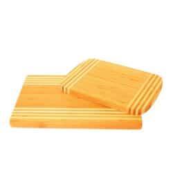 Spækbræt i 2 farvet bambus