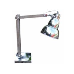 Bordlampe i retro med træ og chrome