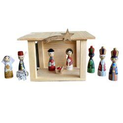 Højholm julekrybbe med figurer