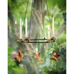 Adventskrans med kobber sommerfugle