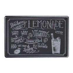 Dækkeserviet sort med flot print - lemonade