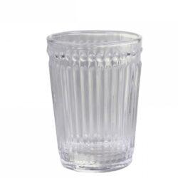 Tandkrus i klart rillet glas