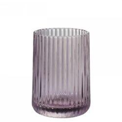 Krus i lyngfarvet glas