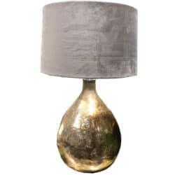 Bordlampe med gylden glasfod
