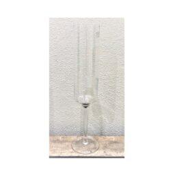 Champagneglas med fin gravering