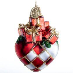 Julehjerte kugle med gaver