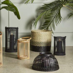 Bambus lanterner til haven