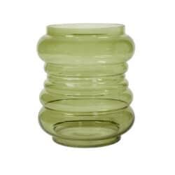 Glasvase grøn ballon vase
