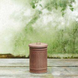Tønde-zink-brunpatineret