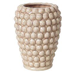 Keramik-vase-med-dot-moenster-rosa