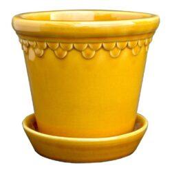Københavner potten - gul - Nyheder, Brugskunst, Skjuler og krukker, Udelivet, Havekrukker - Bergs Potter