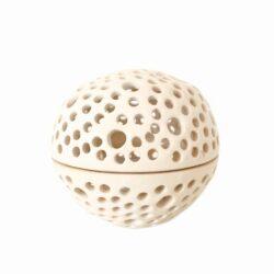 Rund unika keramik lysestage - Blank hvid - Produkter, Brugskunst, Lysestager og lanterner, Unika keramik - Pottery Studio