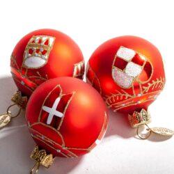 Julekugler med flag, tromme og hjerte - Jul - Brink Nordic