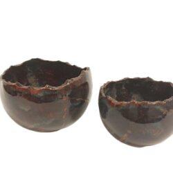 Unika skål brun stentøj - Produkter, Brugskunst, Skåle og bakker, Unika keramik - Lerværket