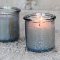 Duftlys i smukke franske glas - Produkter, Brugskunst, Stearinlys, Dufte til hjemmet - Chic Antique