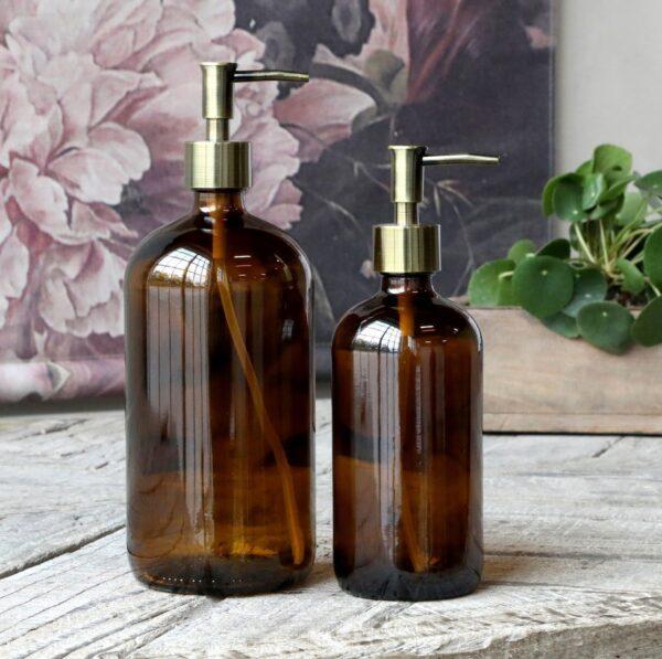 Brune-glasflasker-chic-antique