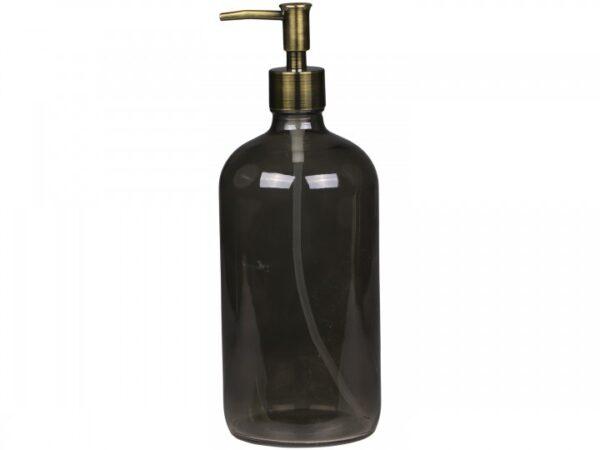 Glasflaske-med-pumpe-graa