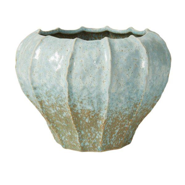 vase-krukke-rillet-lyseblaa